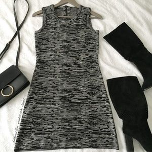 NWOT Muse Black + White Marled Knit Dress